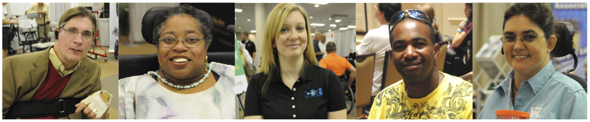 Men and women with greatly diverse backgrounds and interests comprise the wheelchair community.