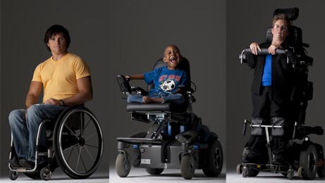 Wheelchair users are diverse and so are their needs. A young man, a child, and a woman are pictured smiling and using their manual and power wheelchairs.