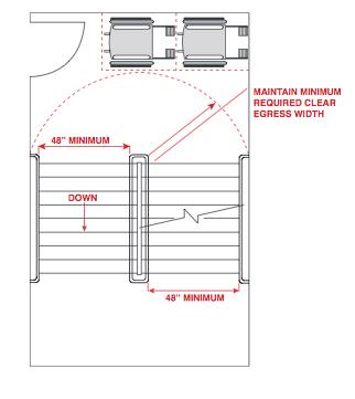 Blueprint of stairway